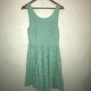 Anthropologie Pins & Needles Mint Lace Dress